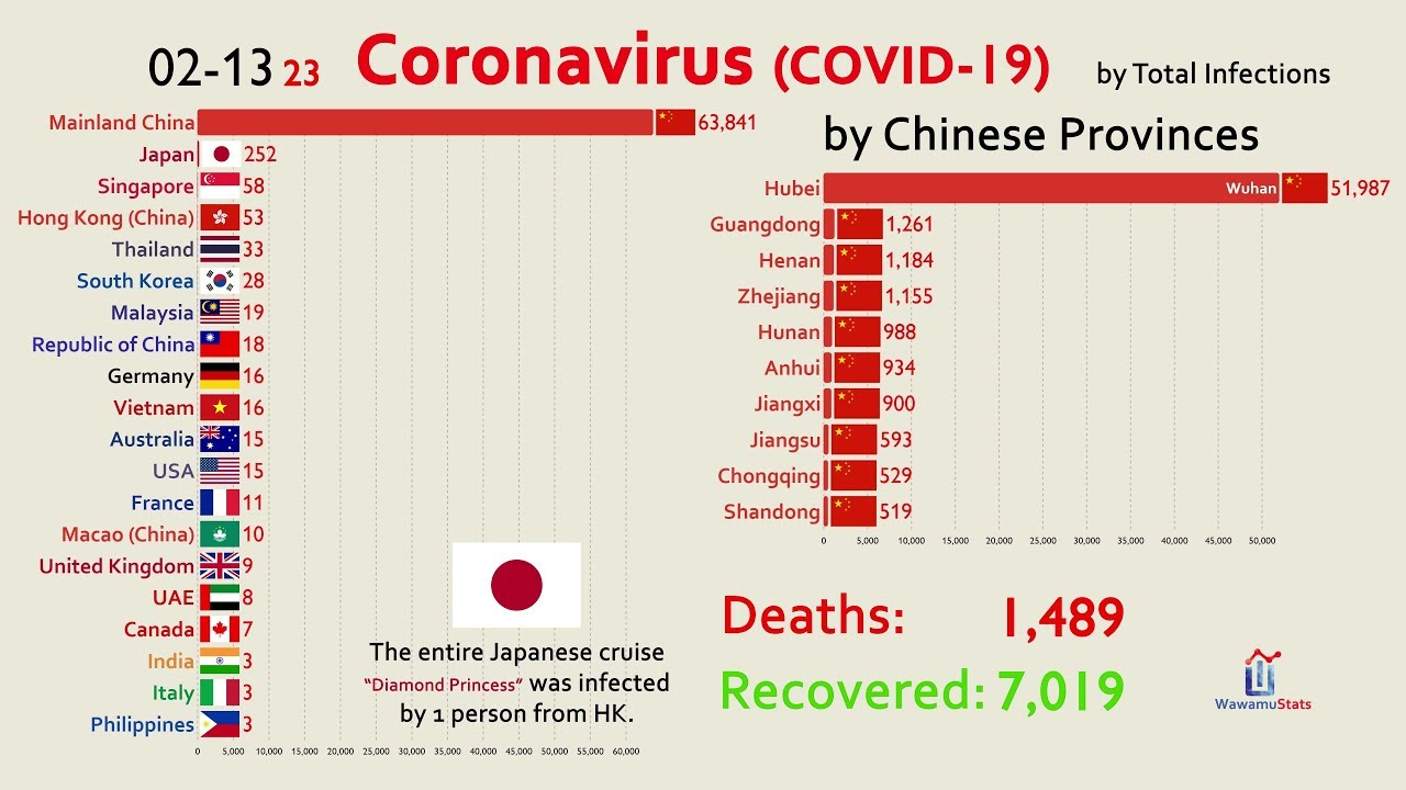 updated feb 14  the spread of coronavirus by country